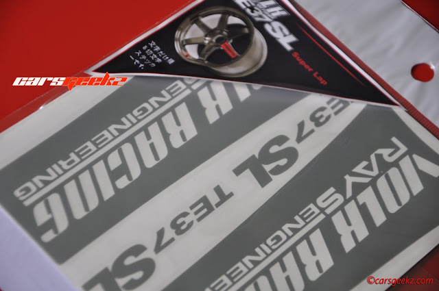 TE37 SL Sticker - Silver Colour Sticker vinyl