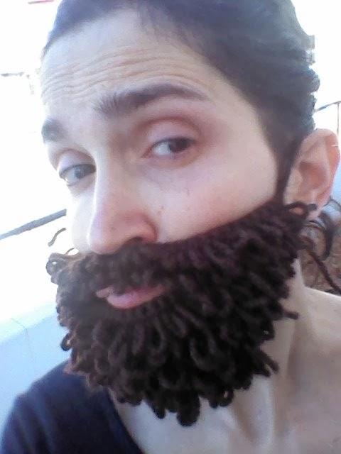 jo amb la meva barba de ganxet