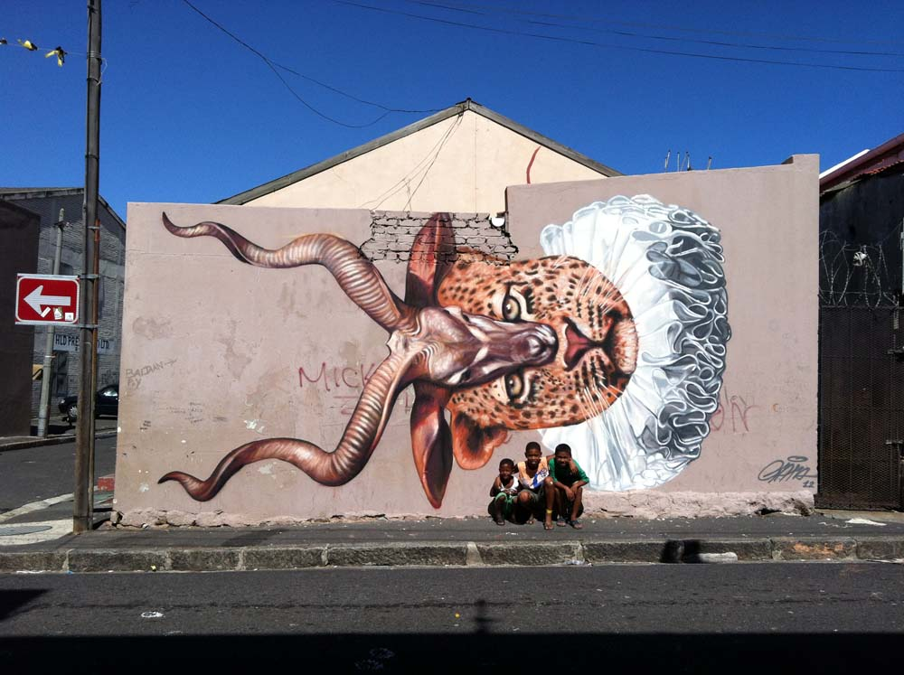 Gaia new mural in cape town south africa streetartnews for African mural painting