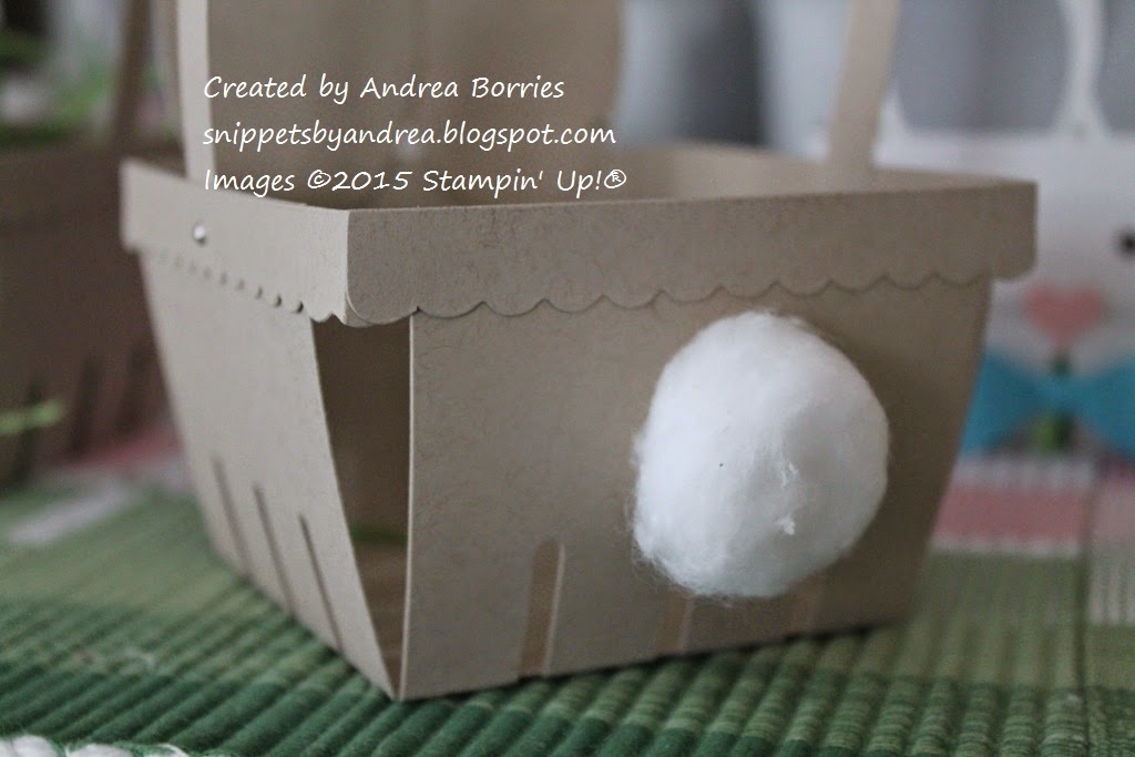 Bunny Basket Step 12. Glue a cotton ball to the back of the basket for a tail.