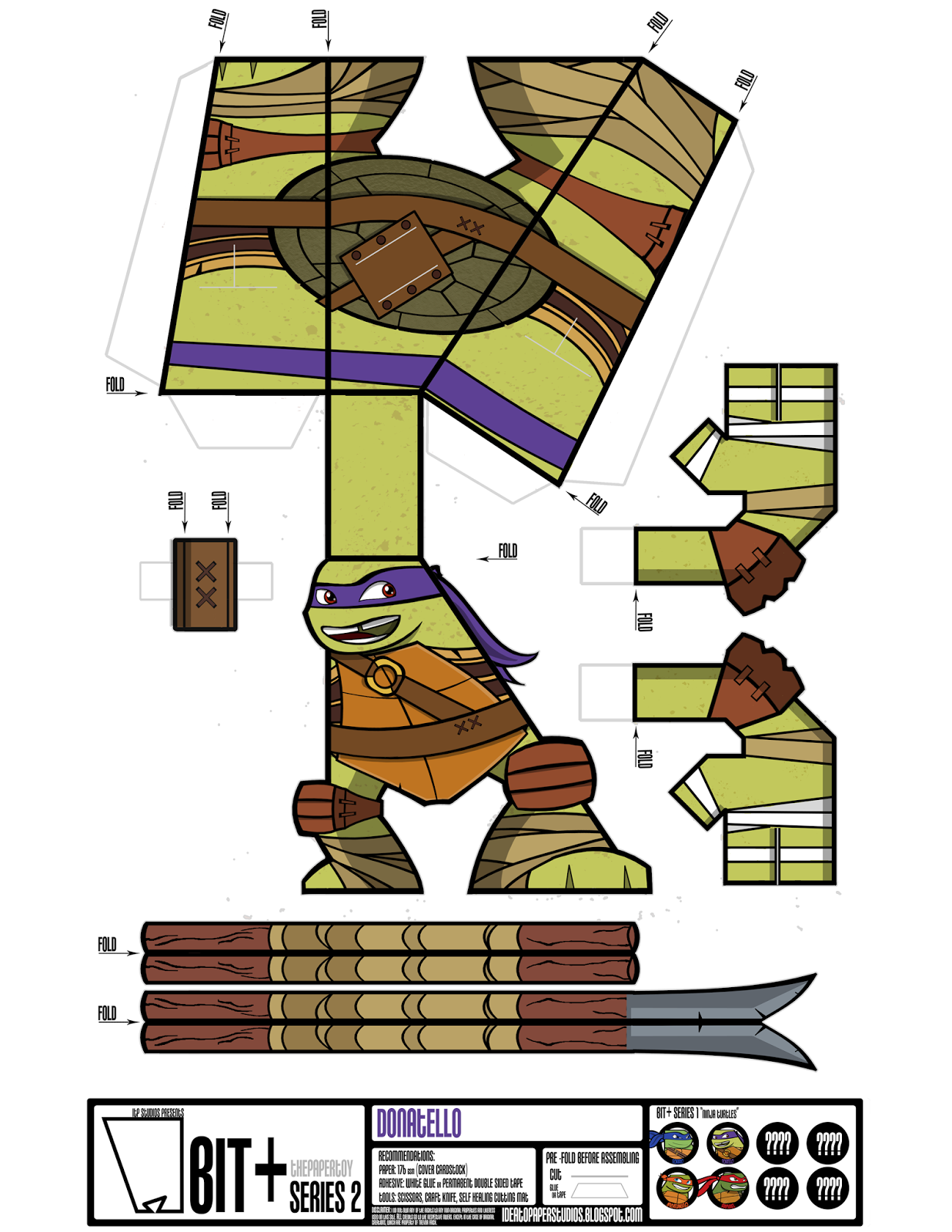 Черепашки ниндзя из бумаги картинки