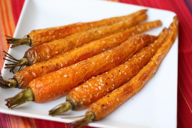 Roasted Baby Carrots recipe by Barefeet In The Kitchen