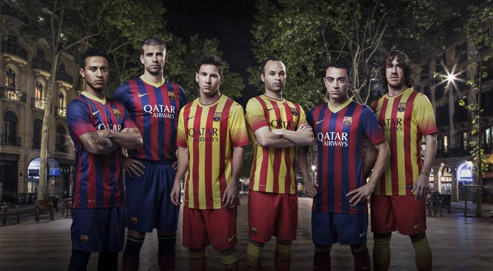 Official FC Barcelona shirt for 2013-2014 season