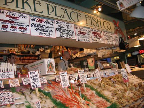 Pike place fish market bunthorne 39 s person place or thing for Pike place fish market video