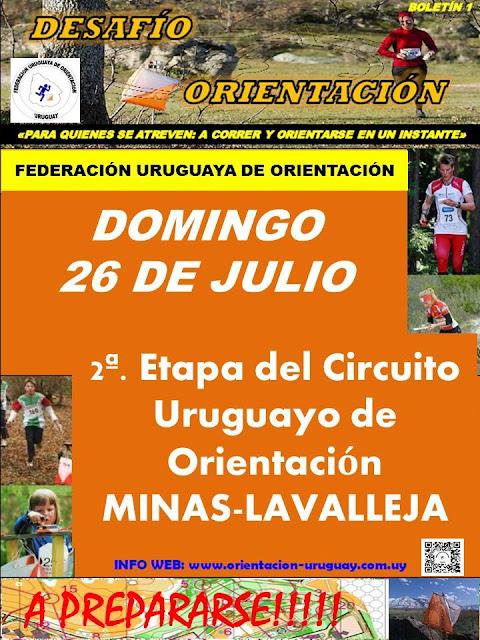Competencia de orientación en el Parque de Vacaciones UTE - ANTEL (Minas, LAV, 26/jul/2015)
