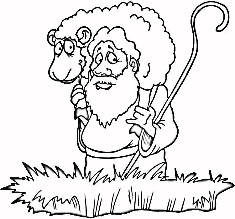 Colorear a pastor que encuentra su oveja perdida. Pintar parabola ...