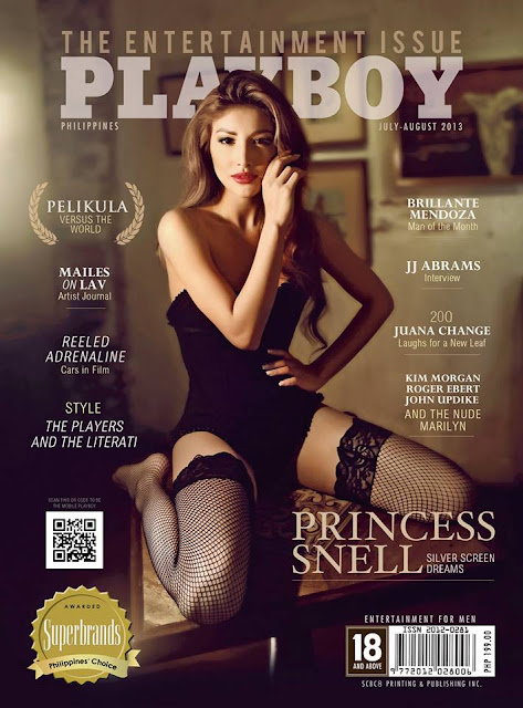 Snell on the Cover of Playboy Philippines July August 2013 Issue
