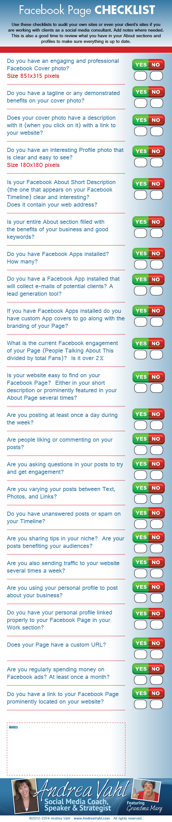 Facebook Checklist For #SocialMedia Marketers #infographic
