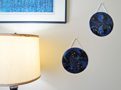 art fused glass constellation star nighttime stargazing hanging wall home decor night sky