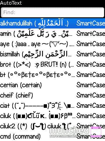Autotext Newklida Kumpulan Autotext Tulisan Bahasa Arab Lengkap 2014