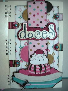 caderno de receitas scrapbook, caderno de receitas personalizado, cha de panela