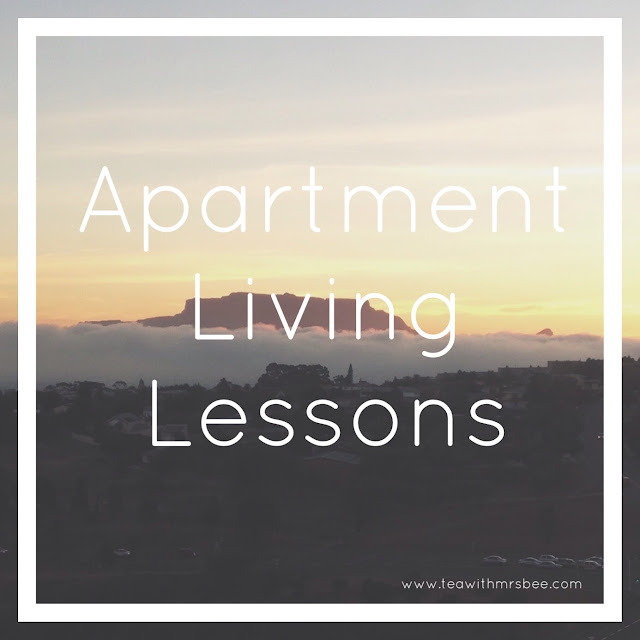 Apartment Living Lessons: life lessons from living in an apartment - www.teawithmrsbee.com