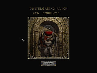 Diablo II downloading patch from BNet