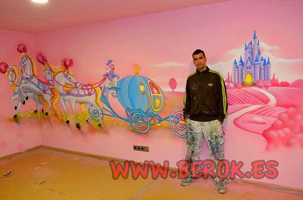 habitación temática de princesas Disney