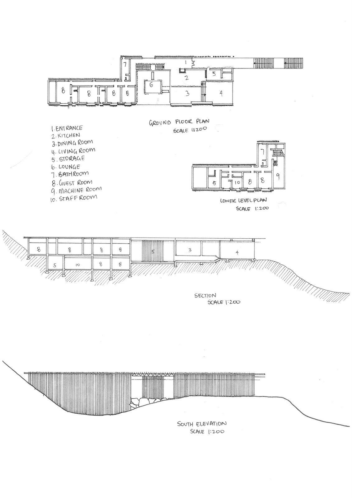 Architectural studies dab 310 for Bamboo house design and floor plan