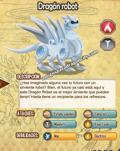 imagen de las caracteristicas del dragon robot