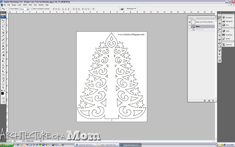 But here is my tutorial i took a lovely paper tree template from