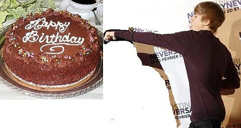 bieber cake. pics of justin ieber cakes.