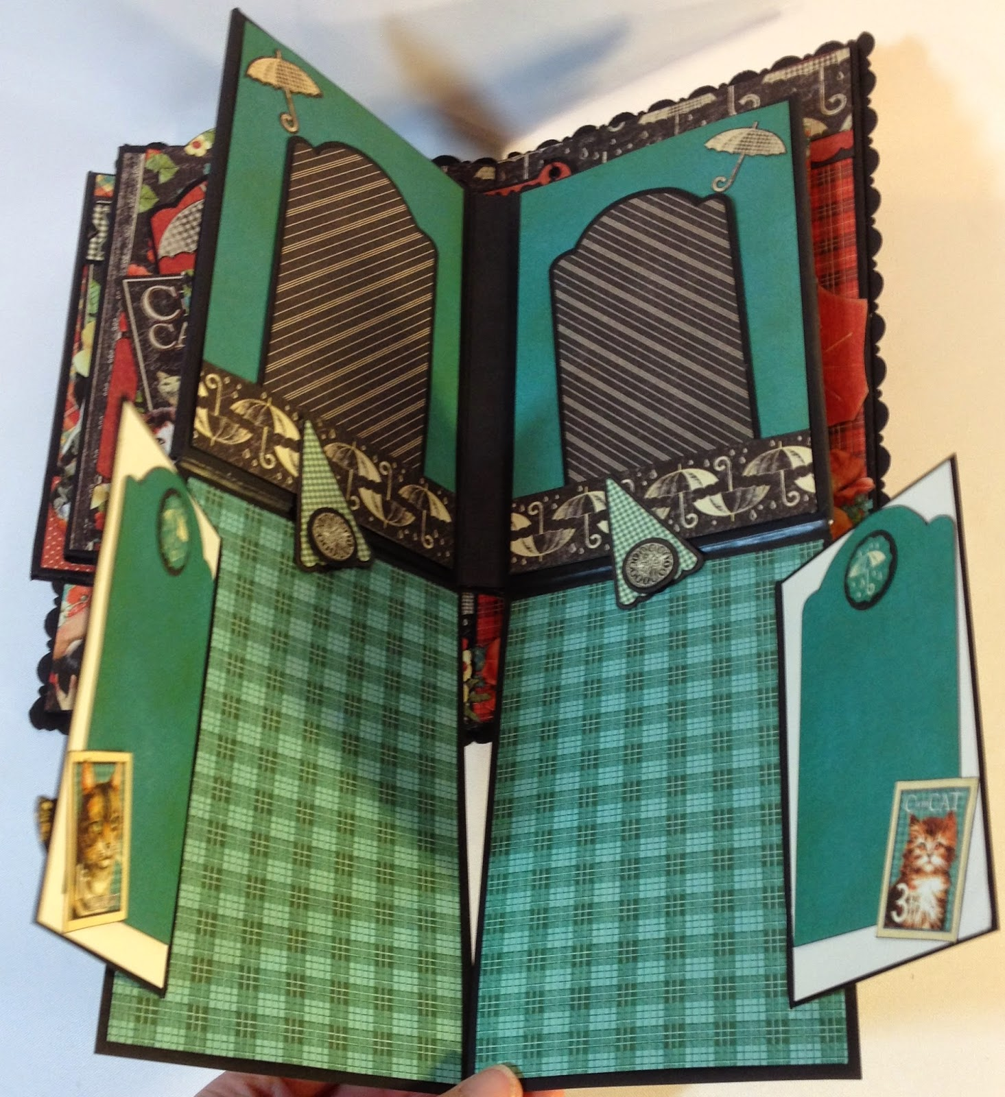 How to make scrapbook album cover - Backside Of The 4 Page And Backside Cover