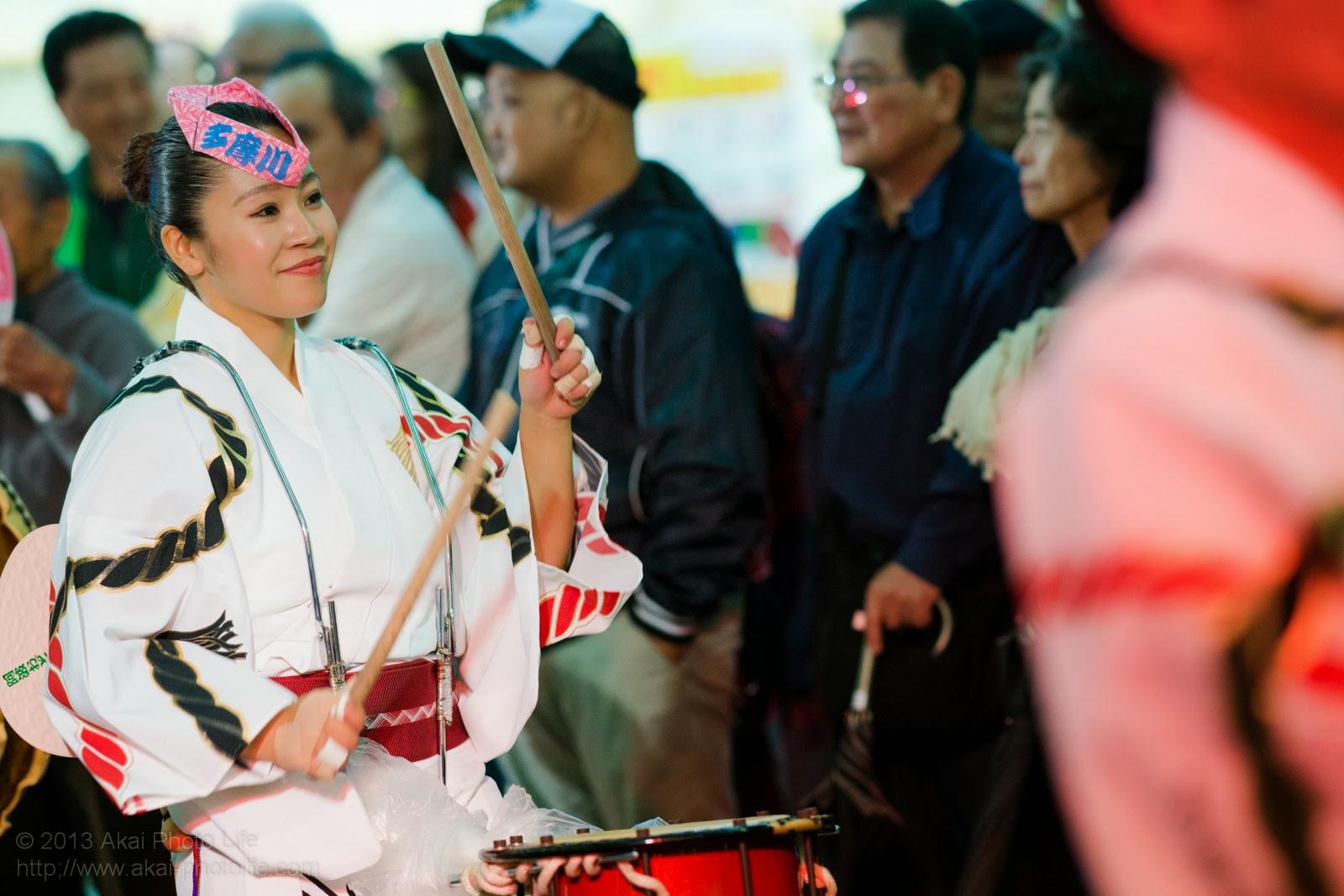 かわさき阿波おどり、多摩川丸子連、女性の鳴り物