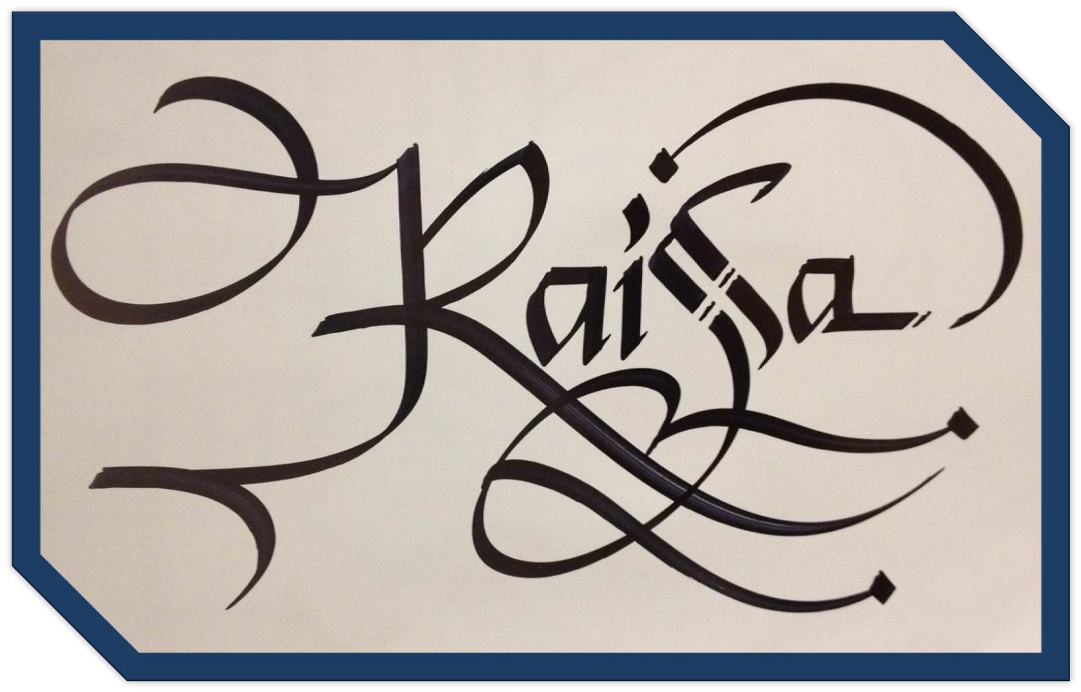 Calligraphy art russian names in raisa