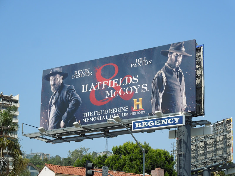 Hatfields McCoys History Channel billboard