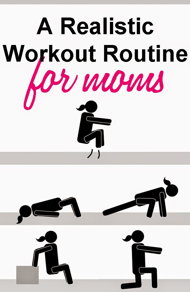 A realistic workout routine for moms by Robyn Welling @RobynHTV
