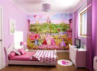 Contoh  desain kamar anak perempuan