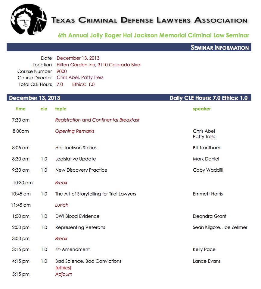 Deandra Grant Presents at the 6th Annual Jolly Roger Hal Jackson Memorial Criminal Law Seminar