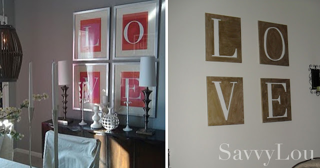 easy love wall art DIY