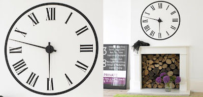 wall sticker working clock
