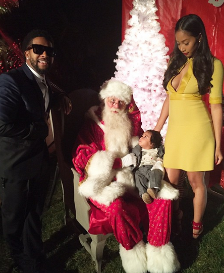 Omarion, Apryl and their son Megaa celebrate Christmas