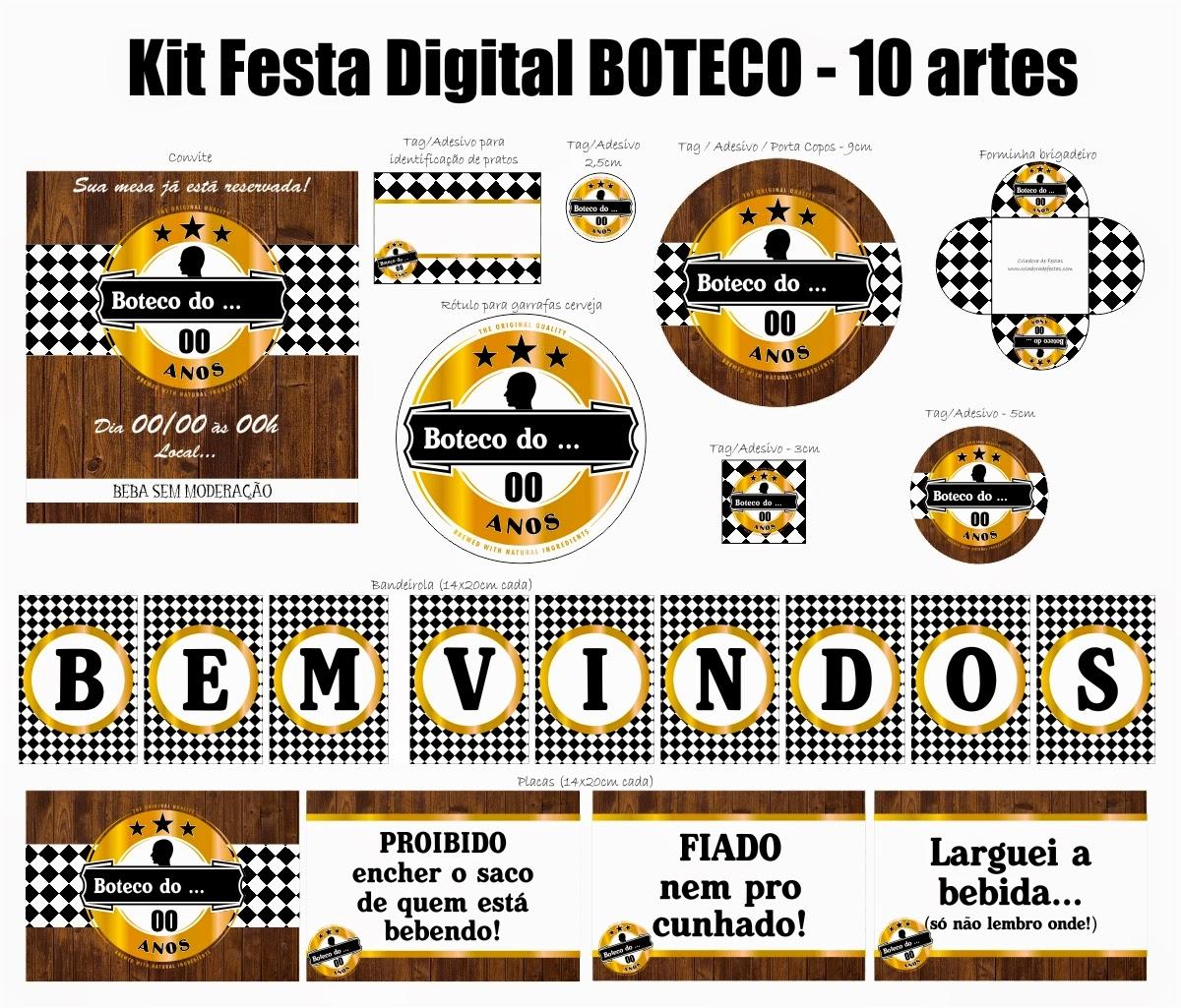 Aparador Livro Xadrez ~ Criadora de Festas Kits Festa Boteco!