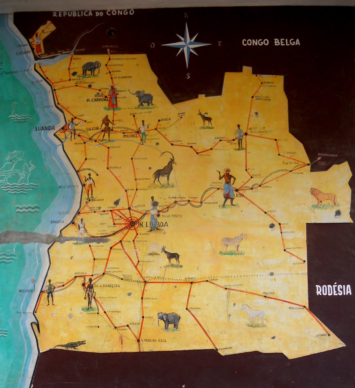 Maruvu Colonial Map of Angola