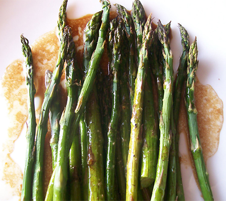 Baked Asparagus with Balsamic Butter Sauce Recipes