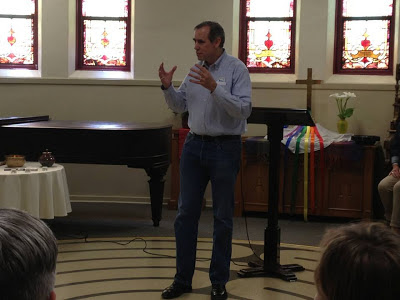 "U.S. Senator Jeff Merkley speaks at Portland Sunnyside Church during Oregon United for Marriage's ""Summer of Love"" kick-off"