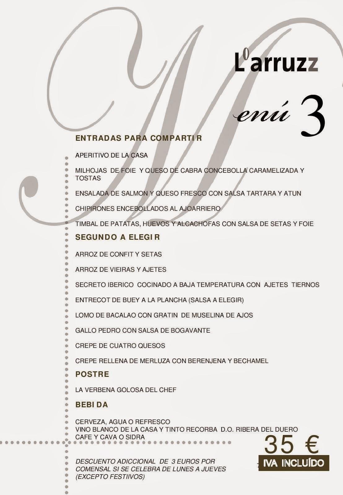 Menús para eventos baratos en Albacete, menús baratos de eventos, Menús en Albacete