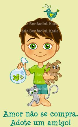 Ilustração para campanha a favor da adoção de animais