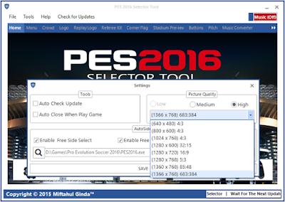 PES 2016 Selector Tool