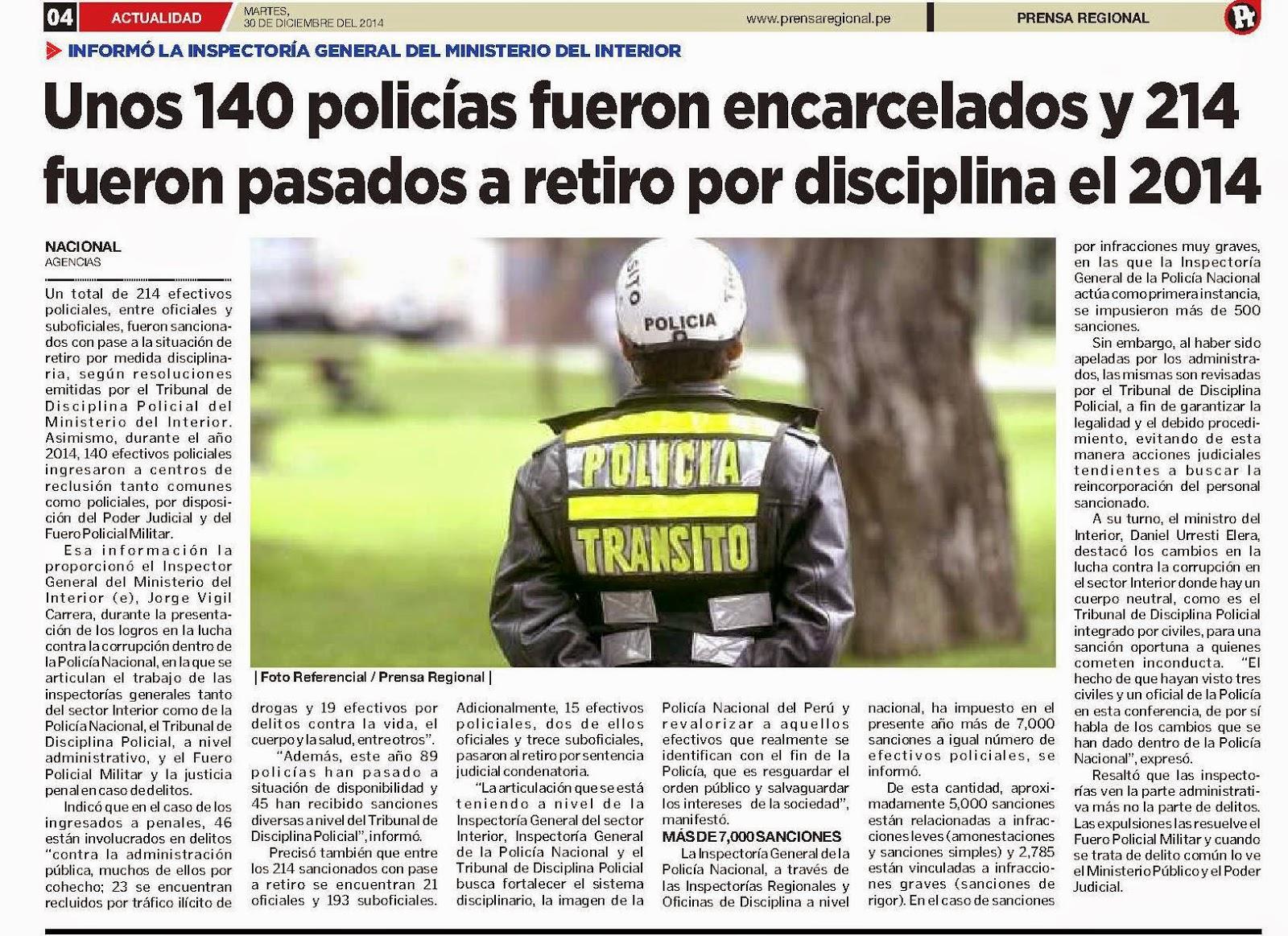 Grupo iniciativa anticorrupcion ilo unos 140 polic as for Pagina del ministerio del interior