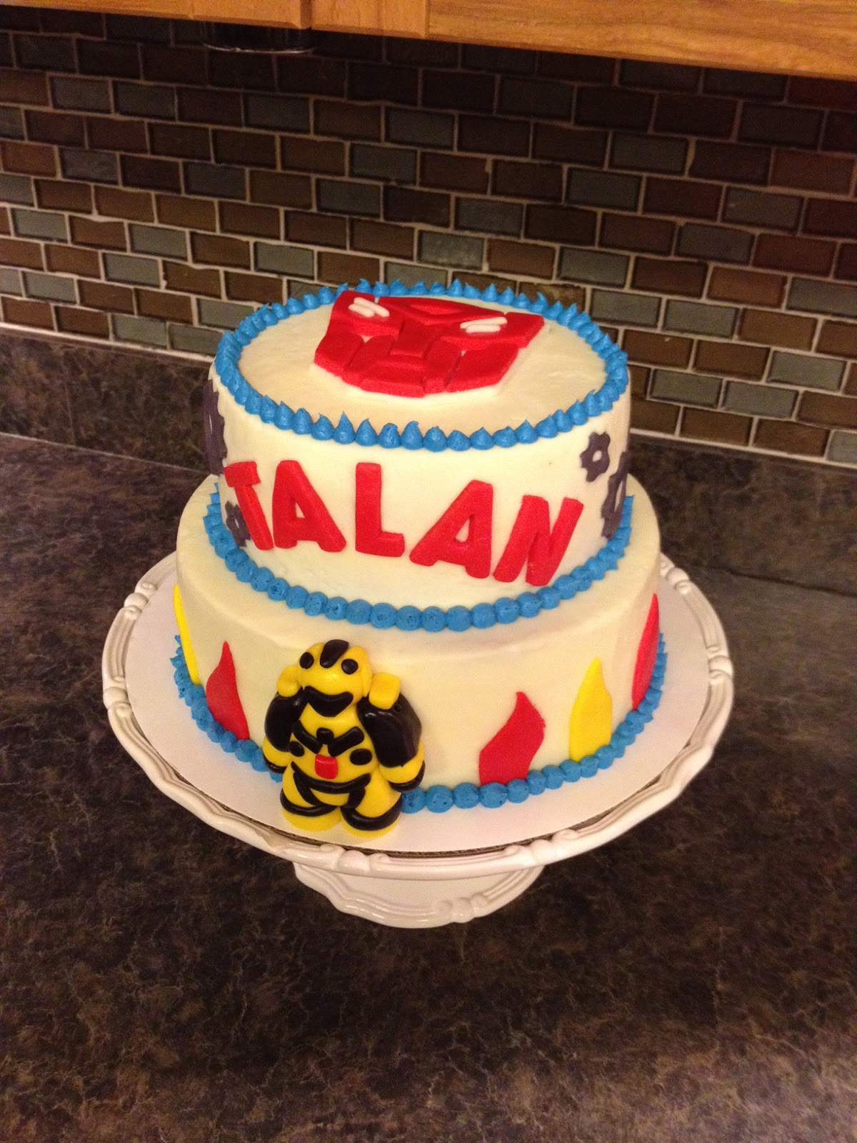 Sisters Baking Co Transformers Birthday Cake