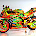 Modifikasi Motor Ninja Full Body Airbrush