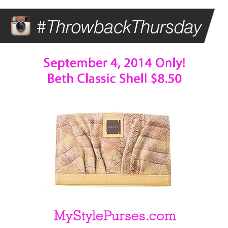 Miche Throwback Thursday September 4, 2014 | Shop MyStylePurses.com