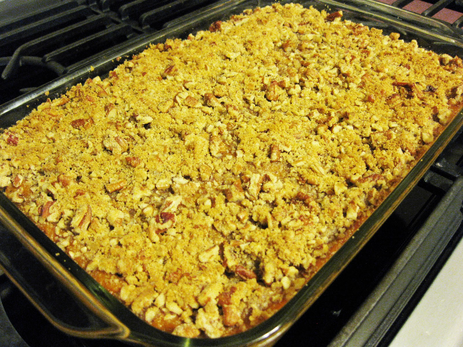 Bloatal Recall: Sweet Potato Casserole with Pecan Topping