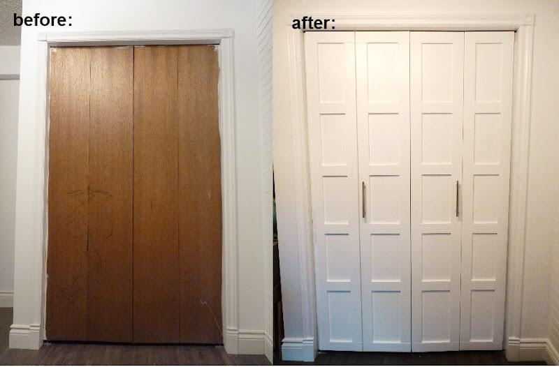 d i y d e s i g n BiFold Closet Door Makeover. Bifold closet door ideas