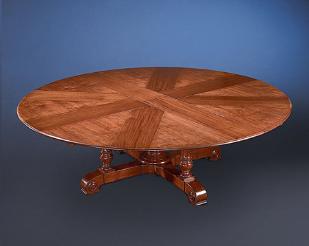 Jupe Table, With Its Eight Additional Leaves In Place.
