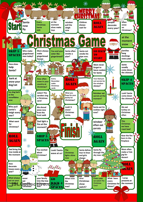 Valanglia: A FUNNY CHRISTMAS BOARD GAME (PRINTABLE)