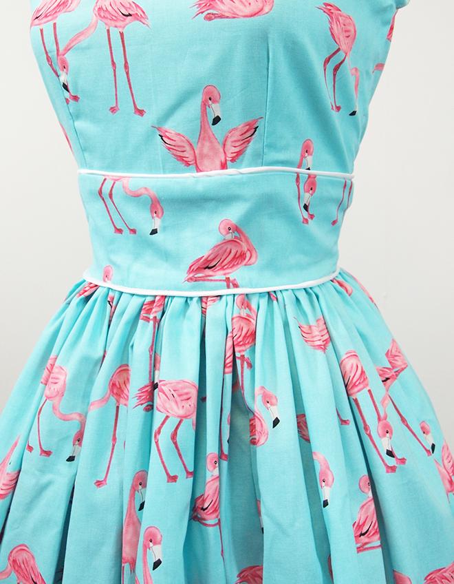 Alexandra King - Vintage Inspired Clothing. : Pink Flamingos Dress