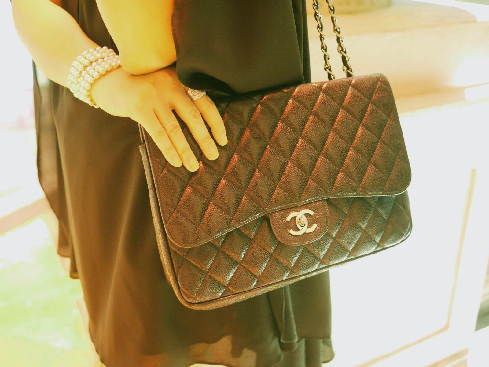 Сумка женская кожаная черная CHANEL 255 Classic Flap Bag