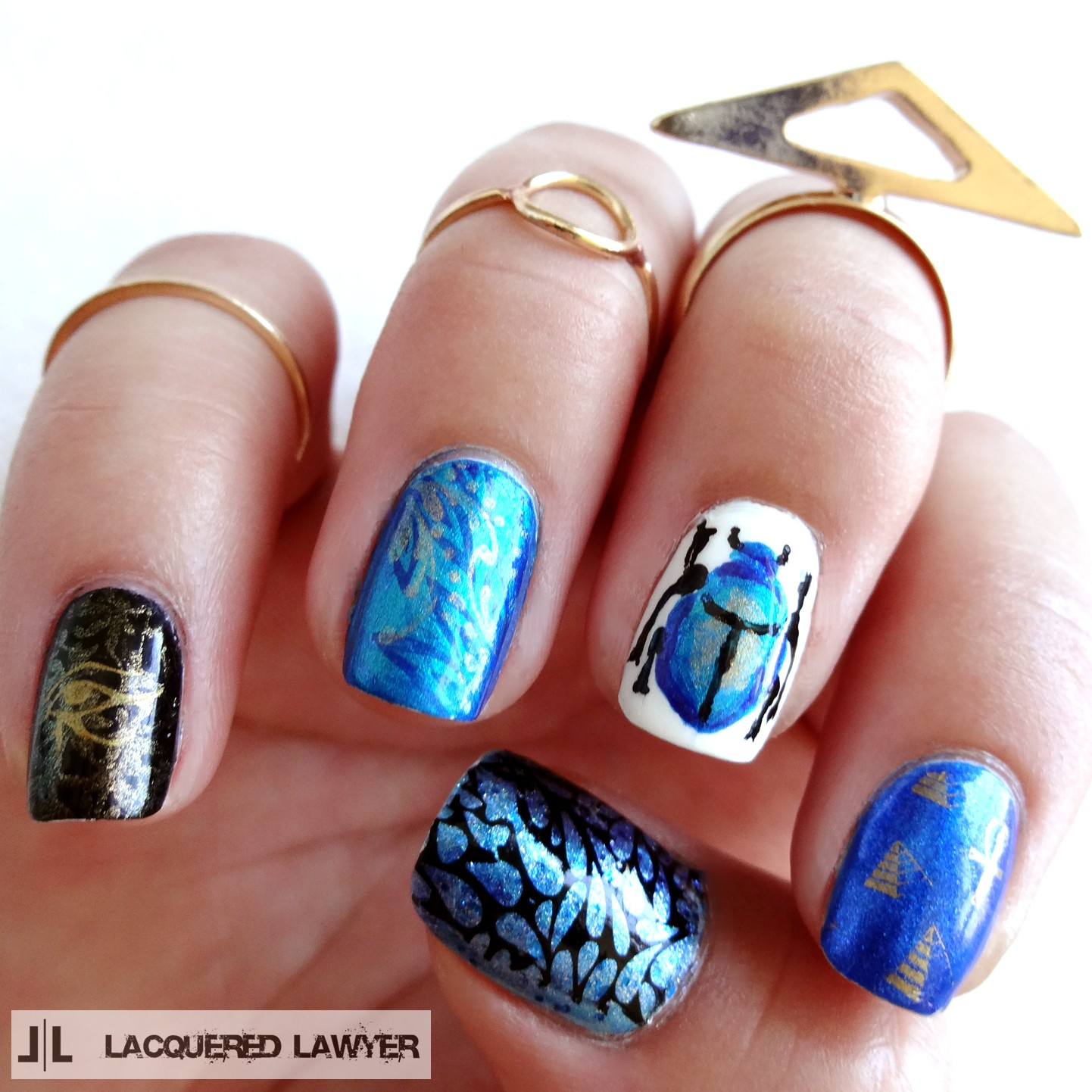 Lacquered Lawyer Nail Art Blog Iridescent Egypt